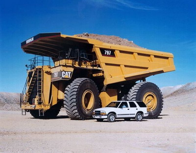 797 caterpillar truck. Caterpillar was not prepared