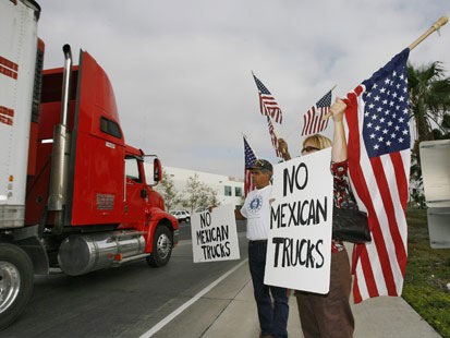 nafta and mexican trucking In 1992, independent presidential candidate ross perot made opposition to the north american free trade agreement (nafta) the cornerstone of his national campaign, warning voters that because of huge wage differentials between the us, canada and mexico, there will be a giant sucking sound going.