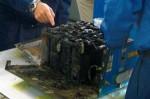 Burnt 787 lithium battery