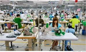 TAL factory in China. TAL makes 1 of every 6 shirts sold in the US