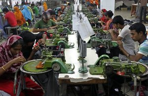 Factory workers in Dhaka, bangladesh
