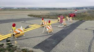 New Fairbanks Airport barricade