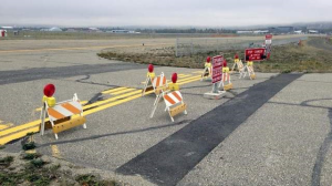 New Fairbanks Airport barricade
