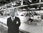 Eiji  Toyoda at NUMMI California plant in 1985