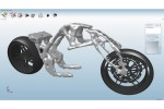 Design software produces ideal shapes for vehicle parts like this motorcycle frame