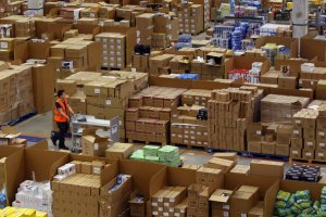 Amazon's warehouse in Wales.