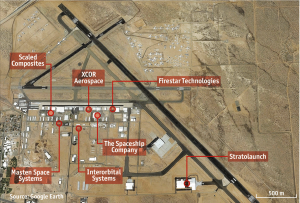 "Cluster of 17 ""New Space"" companies in Mojave Desert"
