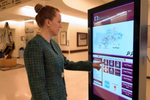 Directional guiding hospital kiosk