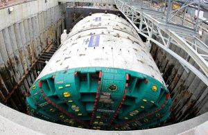 Bertha, before drilling began in July 2013