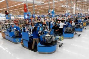 "Wal-Mart's ""check-out promise"" aims to alleviate chronic long lines"