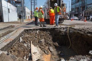 A recent water main rupture in Los Angeles