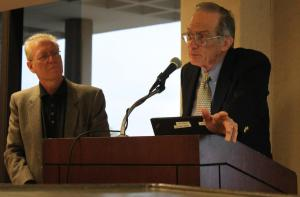 Barry and Jay lecturing at U. of Illinois-Chicago