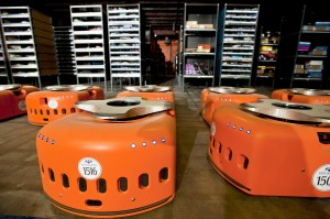 These orange robots are the fruits of Amazon's 2012 purchase of Kiva Systems for $775 million