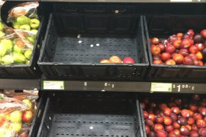At this N.Y. Walmart, the produce section is poorly stocked