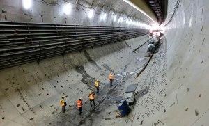 Inside the Seattle tunnel last year