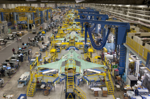 Lockheed's F-35 assembly line in Fort Worth, Texas