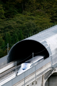 Japan Railway's maglev train set a speed record when it hit 366 mph near Mt. Fuji