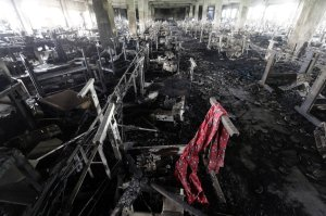 Inside the Tazreen garment factory after the fire