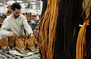 In Brunswick, L.L. Bean operates a 170,000-square-foot factory where the boot is assembled from start to finish.