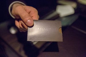A guest room key card at a Sofitel