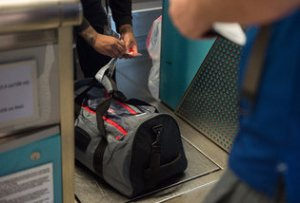 Radio chips are embedded in the tags being used at Las Vegas' airport ensure that suitcases move more quickly and accurately through the system.