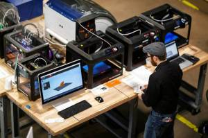 FirstBuild's microfactory, on the campus of U. of Louisville, features work benches, tools, welding equipment, 3-D printers and metal-cutting machinery to turn ideas into initial prototypes